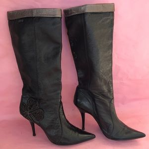 Vintage black Miss Sixty leather boots
